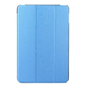 iPad 2017 レザーケース ダークブルー 液晶保護フィルム付き アイパッド2017 カバー 手帳型スタンド機能|memon-leather