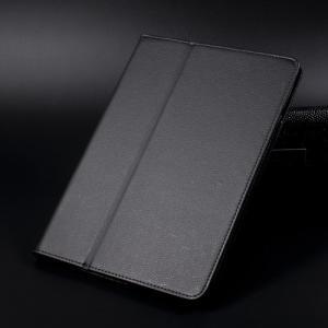 iPad 2017 レザーケース ブラック 液晶保護フィルム付き アイパッド2017 カバー 手帳型スタンド機能|memon-leather