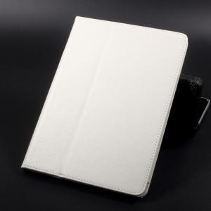 iPad 2017 レザーケース ホワイト 液晶保護フィルム付き アイパッド2017 カバー 手帳型スタンド機能|memon-leather