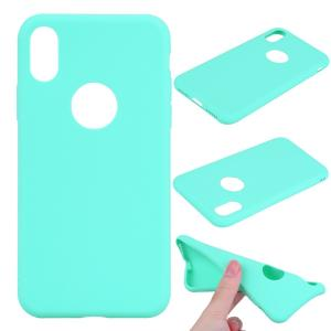iPhone XS/X ケース ソフトケース シアン 強化ガラス保護フィルム付き アイフォン X 背面型 超薄軽量|memon-leather