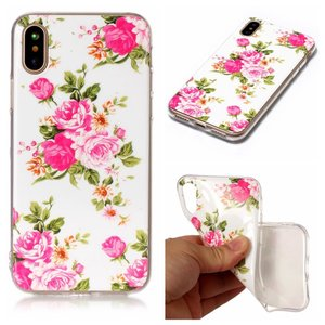 iPhone XS/X ケース ソフトケース B 強化ガラス保護フィルム付き アイフォン X 背面型 超薄軽量|memon-leather