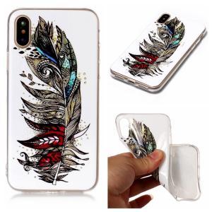 iPhone XS/X ケース ソフトケース D 強化ガラス保護フィルム付き アイフォン X 背面型 超薄軽量|memon-leather