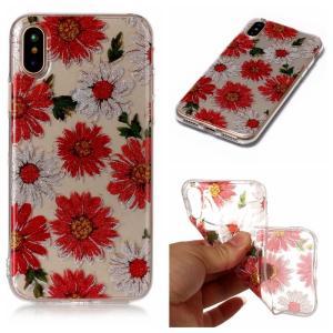 iPhone XS/X ケース ソフトケース H 強化ガラス保護フィルム付き アイフォン X 背面型 超薄軽量|memon-leather