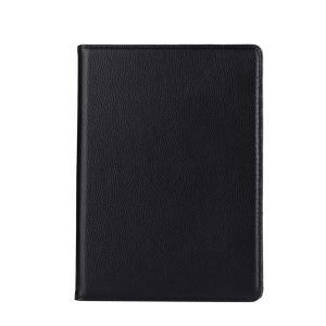 iPad 2017 レザーケース ブラック 液晶保護フィルム付き アイパッド2017 カバー 手帳型 スタンド機能|memon-leather