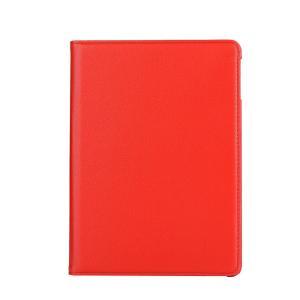 iPad 2017 レザーケース レッド 液晶保護フィルム付き アイパッド2017 カバー 手帳型 スタンド機能|memon-leather