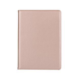 iPad 2017 レザーケース ゴールド 液晶保護フィルム付き アイパッド2017 カバー 手帳型 スタンド機能|memon-leather