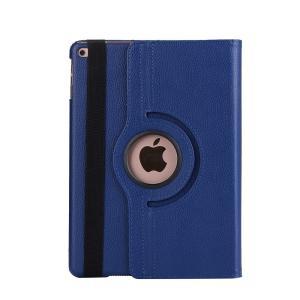 iPad 2017 レザーケース ダークブルー 液晶保護フィルム付き アイパッド2017 カバー 手帳型 スタンド機能|memon-leather