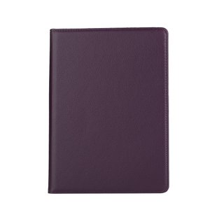 iPad 2017 レザーケース パープル 液晶保護フィルム付き アイパッド2017 カバー 手帳型 スタンド機能|memon-leather