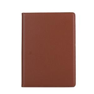 iPad 2017 レザーケース ブラウン 液晶保護フィルム付き アイパッド2017 カバー 手帳型 スタンド機能|memon-leather