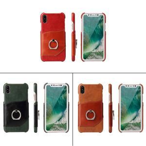 iPhone XS/X ケース iPhone XS/X レザーケース アイフォンX アイフォンテン 背面型 超薄軽量 スタンド機能|memon-leather