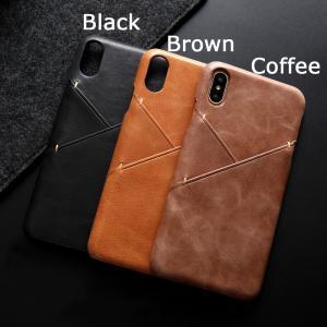 iPhone XS ケース iPhone X ケース iPhone XS/X ハードケース アイフォンXS テン エス カバー シンプル 超薄軽量 カードスロット|memon-leather
