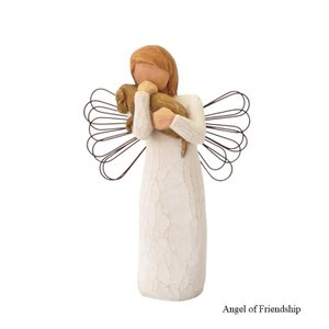 メモリアルオブジェ Angel of Friendship 〜愛しい天使そして友達〜 犬 Willow Tree |memoriaareca