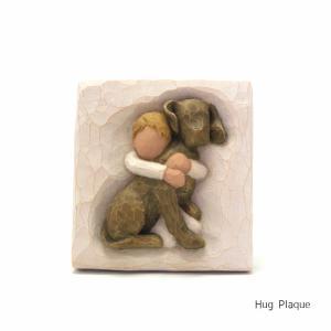 メモリアルオブジェ 飾りプレート Hug Plaque 〜ハグ〜 犬 willowtree|memoriaareca