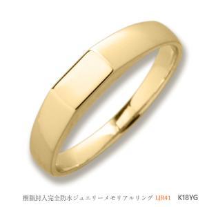 メモリアルリング LJR41A [K18YG] 完全防水 樹脂埋封ジュエリー ゴールド製|memoriaareca