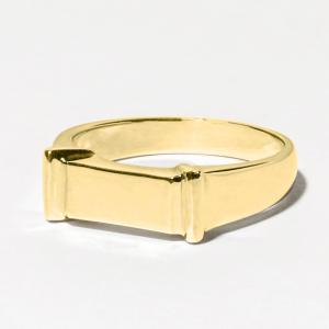 メモリアルリング LJR070 [K18YG] 完全防水 樹脂埋封ジュエリー ゴールド製|memoriaareca