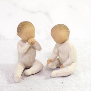 メモリアルオブジェ メモリアルオブジェ Two Together ふたりいっしょ 兄弟・双子・赤ちゃん WillowTree ウィローツリー memoriaareca