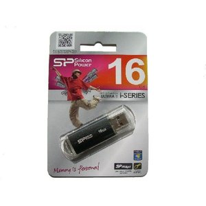 USB フラッシュメモリー 16GB Silicon Power製 ULTIMA2 i-Series Black【ゆうメール215円発送可】|memory-depot
