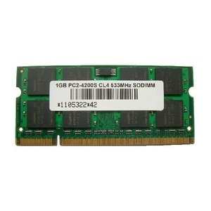 SODIMM 1GB PC2-4200 DDR2 533 200pin 16chip SO-DIMM PCメモリー 相性保証付【ゆうメール215円発送可】|memory-depot