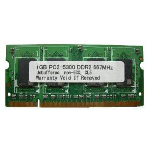 SODIMM 1GB PC2-5300 DDR2 667 200pin SO-DIMM Macメモリー 相性保証付【ゆうメール215円発送可】|memory-depot