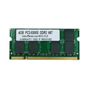 SODIMM 4GB PC2-5300 DDR2-667 200pin SO-DIMM PCメモリー 【希少品】【ゆうパケット360円発送可】|memory-depot