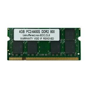 SODIMM 4GB PC2-6400 DDR2 800 200pin SODIMM Macメモリー 相性保証付【ゆうパケット360円発送可】|memory-depot