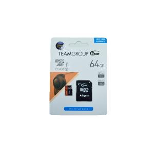 MicroSDXCカード 64GB Class10 UHS-1規格対応 TEAM製 超高速80MB/s MicroSDメモリーカードSDHCアダプター付【ゆうメール215円発送可】|memory-depot