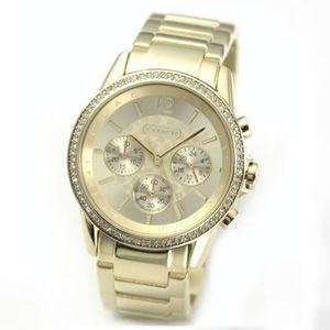 コーチ 腕時計 レディース クォーツ クロノグラフ ラインストーン 14501567|memozo