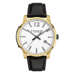 コーチ 腕時計 メンズ クォーツ ブリーカー ゴールド×ブラック 14602055|memozo