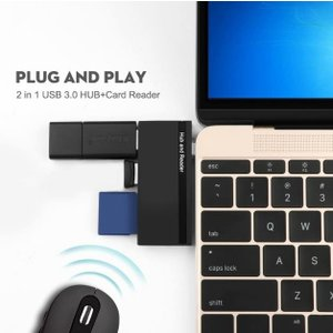 カードリーダー MacBook モバイル用 TYPE-C microSD SD USB3.0 microUSB|memozo
