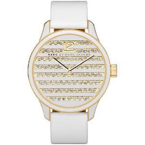 マークバイマークジェイコブス 腕時計 レディース クォーツ リディア ストライプ MBM1164|memozo