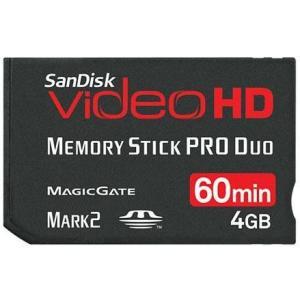 メモリースティック Pro Duo 4GB VIDEO HD Mark2 SDMSPDHV-004G サンディスク バルク品|memozo