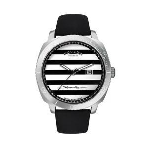 ROMAGO スーパーレジェーラ ユニセックス 腕時計 クォーツ ブラック&シルバー ボーダー文字盤 ロマゴ RM049-0371ST-SV|memozo
