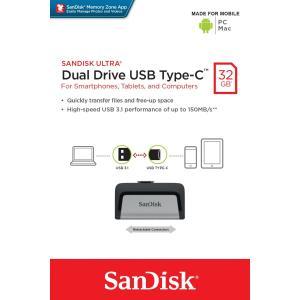 メール便可 SanDisk Ultra Dual Drive USB 3.1 Gen 1 TYPE-C 高速USBフラッシュメモリ 32GB 150MB/s サンディスク SDDDC2-032G 海外パッケージ品