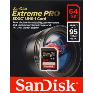 メール便可 SanDisk Extreme Pro SDXC 64GB class10 UHS-I V30 U3 4K対応 95MB/s SDSDXXG-064G サンディスク 海外パッケージ