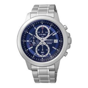 セイコー腕時計 メンズ クロノグラフ クォーツ シルバー/ブルー SKS443P1|memozo