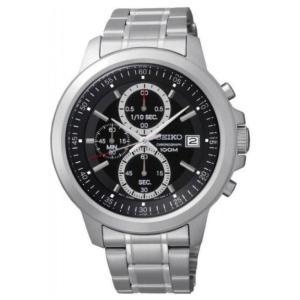 セイコー腕時計 メンズ クロノグラフ クォーツ シルバー×ブラック SKS445P1|memozo