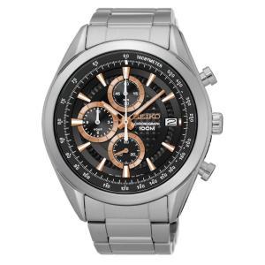セイコー腕時計 メンズ クロノグラフ クォーツ シルバー×ブラック SSB199P1|memozo