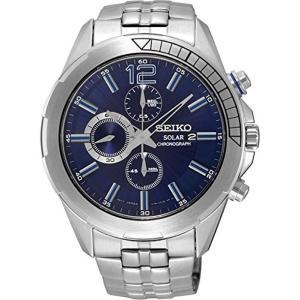 セイコー腕時計 メンズ クロノグラフ ソーラー  シルバー SSC381|memozo