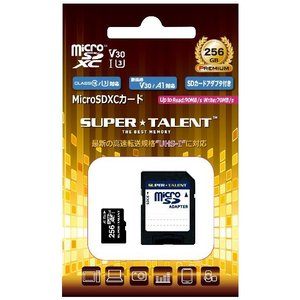 マイクロSD 256GB スーパータレント microSDXC A1 ST56MSU1P 国内パッケージ品|memozo