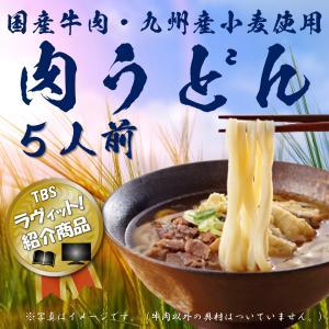 送料無料 肉うどん 国産牛肉 つゆセット 5食 お取り寄せ 九州 筑後うどん ギフト