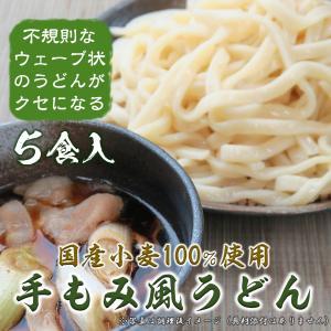 手もみ風うどん 武蔵野うどんモチーフ 国産小麦粉 プロ仕様 保存料無添加 5食 肉汁うどんに最適|menkobo-musashino