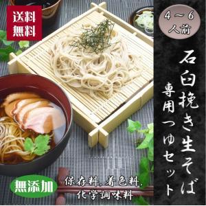 麺の真髄 石臼挽き生そば  (4パック・つゆセット (4〜6人前))