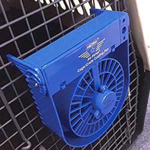 クレートクーリングファン(小型の扇風機)ハード・キャリー、サークル・ケージに取り付け可能(ペットでも...