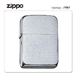 ZIPPO ジッポー ジッポライター ブラッシュドクローム 1941レプリカ 復刻版 シンプル スタ...