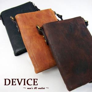 DEVICE デバイス ヴィンテージ メンズ 二つ折り財布 DPG-20038