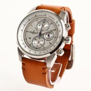 GRANDEUR PLUS グランドール プラス メンズ腕時計 クロノグラフ GRP001W1