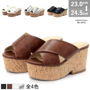 クロスベルトサンダル レディース 厚底 8cmヒール つっかけ サボ 歩きやすい 対象商品2足の購入で3600円(税別)|mens-sanei