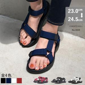 スポサン スポーツサンダル レディース カジュアル アウトドア 軽量 ベルクロ 歩きやすい 対象商品2足の購入で3600円(税別) mens-sanei