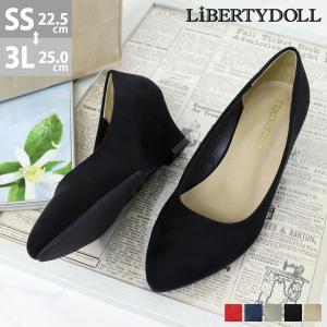 パンプス スウェード ポインテッドトゥ ウエッジヒール リバティードール 5色展開 レディース 婦人 靴 HEEL PUMPS 対象商品2足の購入で3600円(税別)|mens-sanei