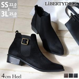 ショートブーツ レディース サイドゴア ブーツ 履きやすい 3cmヒール ポインテッドトゥ 対象商品2足の購入で4000円(税別)|mens-sanei
